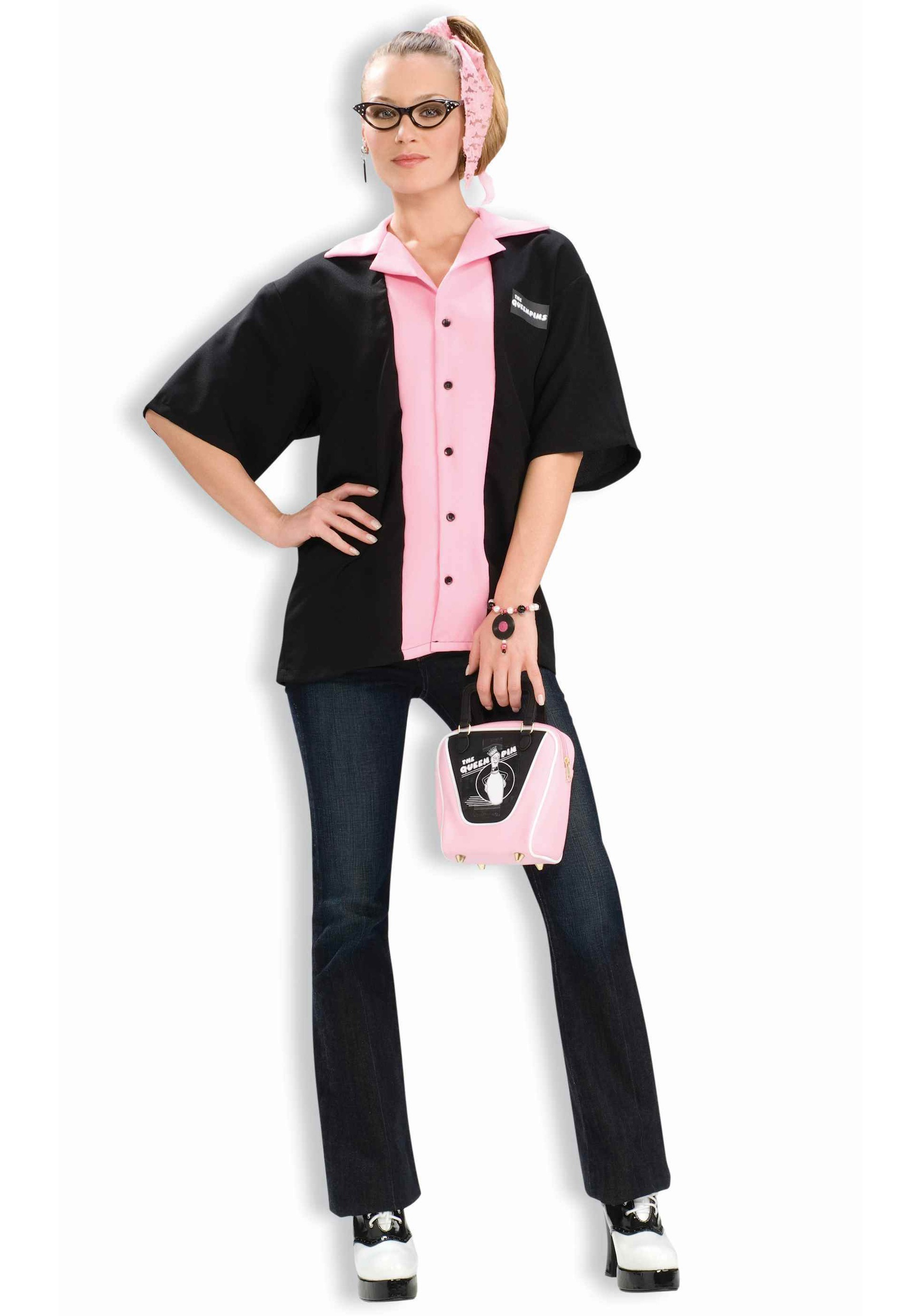 Womens Retro Bowling Shirt  sc 1 st  Halloween Costume & Womens Retro Bowling Shirt - Adult 50s Costume Ideas