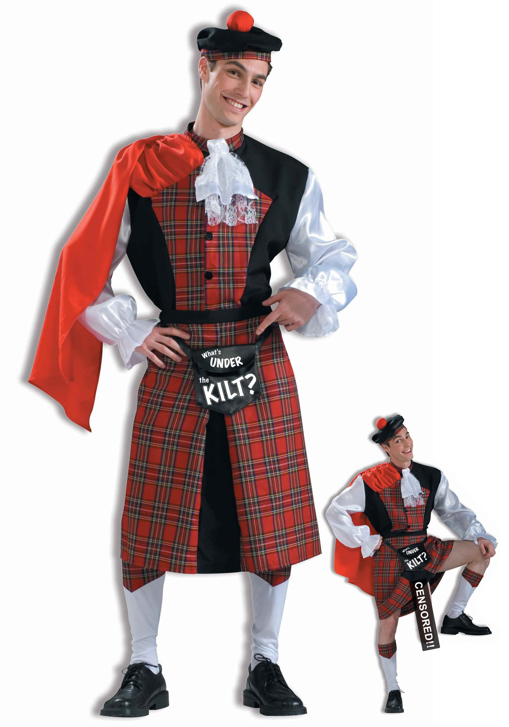 what's under the kilt mens costume - adult funny halloween costumes