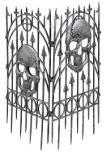 Spiked Skeleton Fence