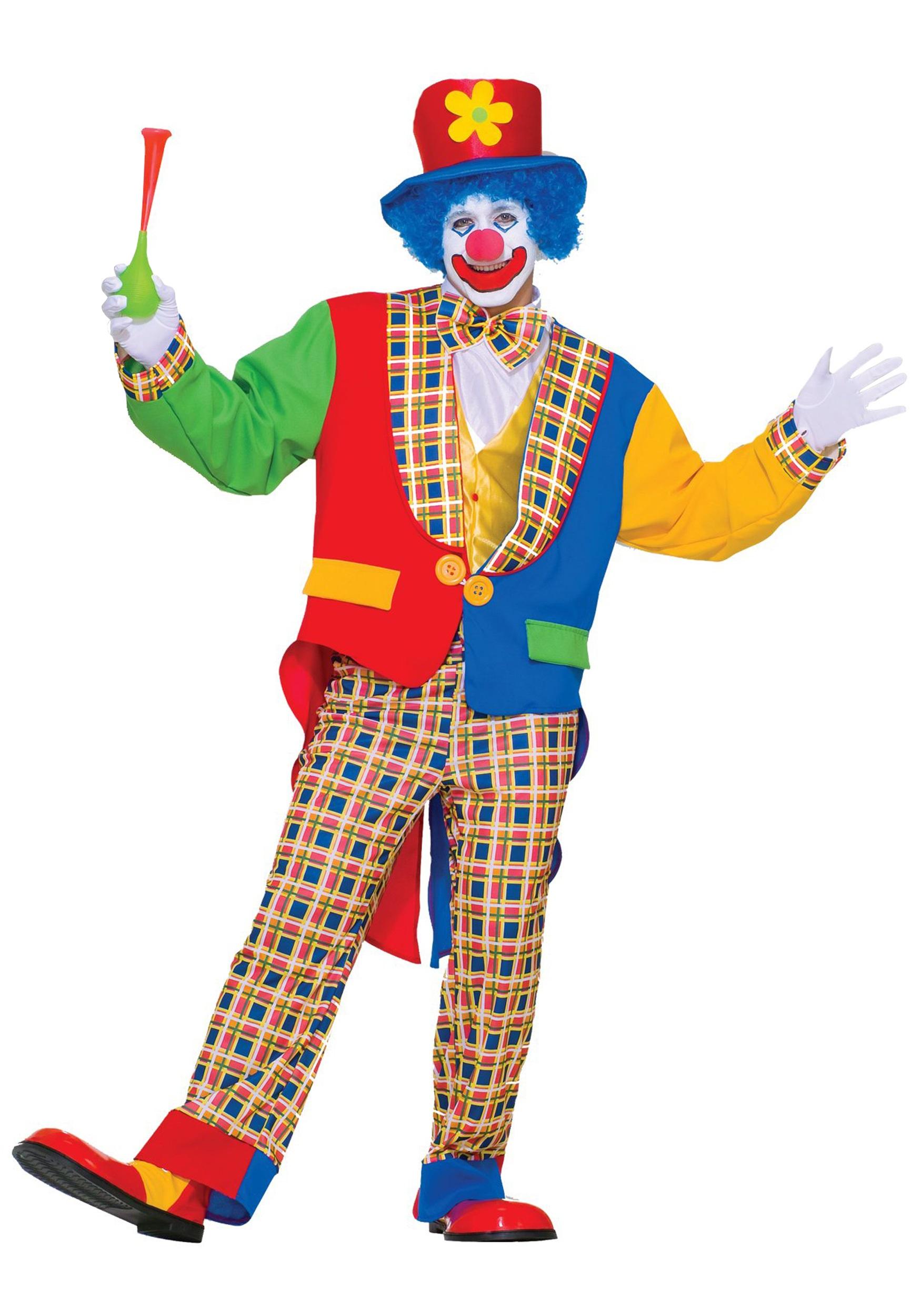 Adult Clown Halloween Costume Mens Clown Halloween Costumes