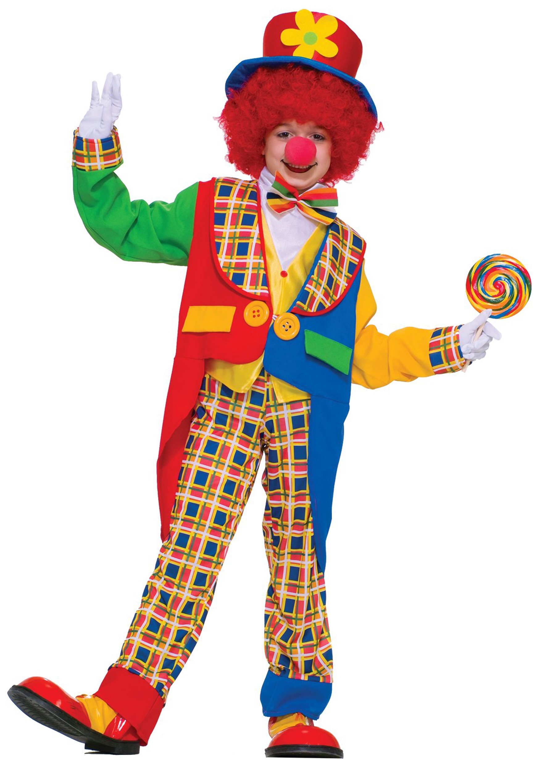 child clown costume - kids classic party clown halloween costumes