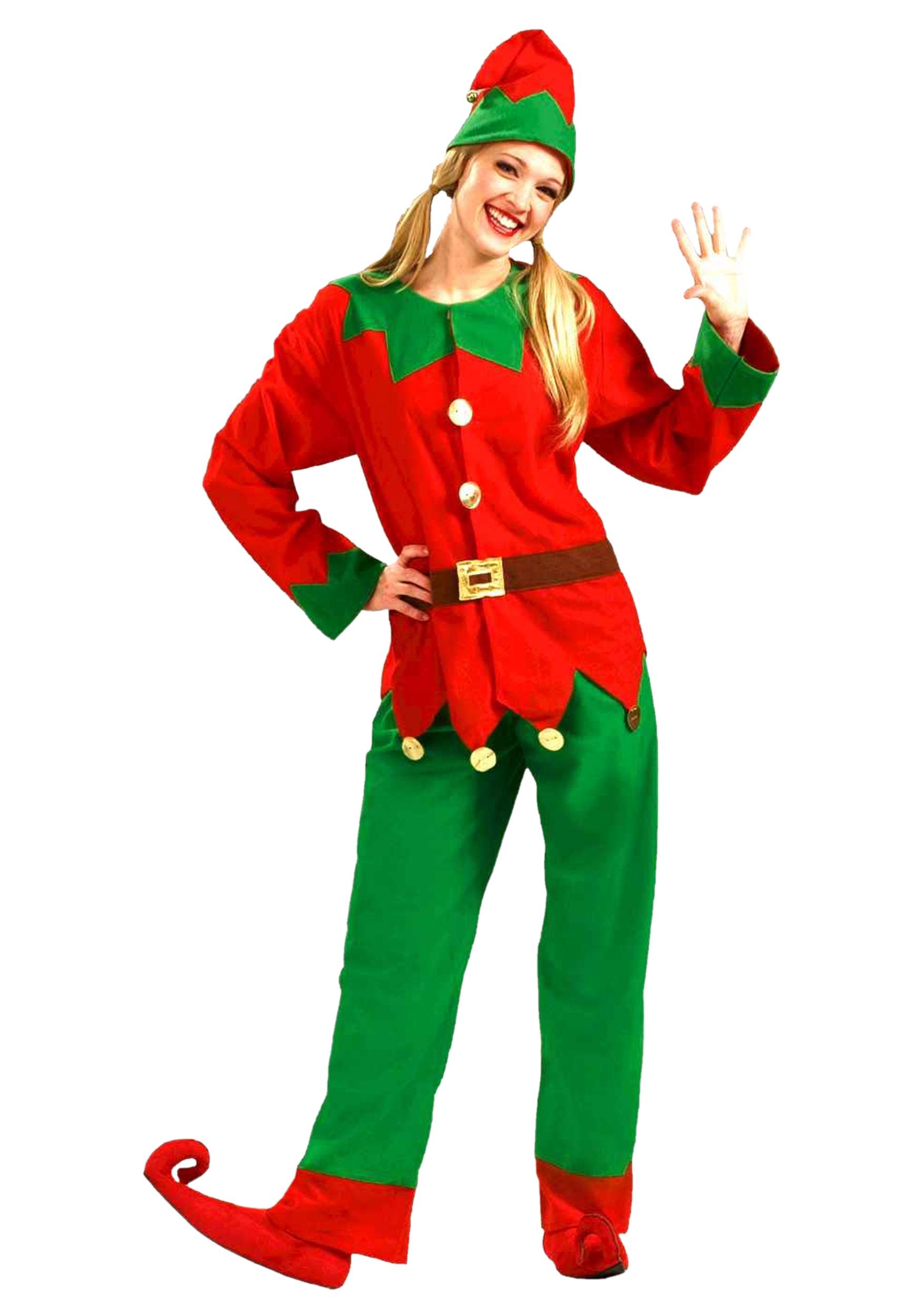 Adult Elf Costume - Adult Christmas Holiday Elf Costumes
