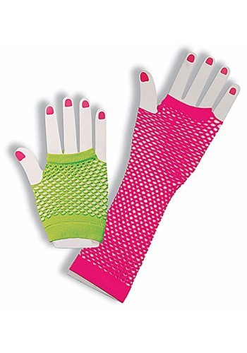 Bright Neon Fingerless Gloves