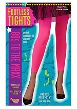 Bright Pink Footless Tights