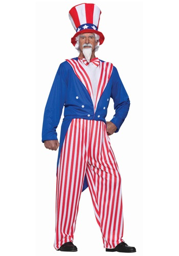 Plus Size Uncle Sam American Costume