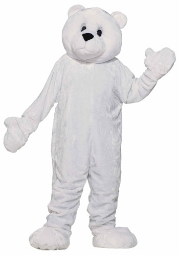 Mascot White Bear Costume