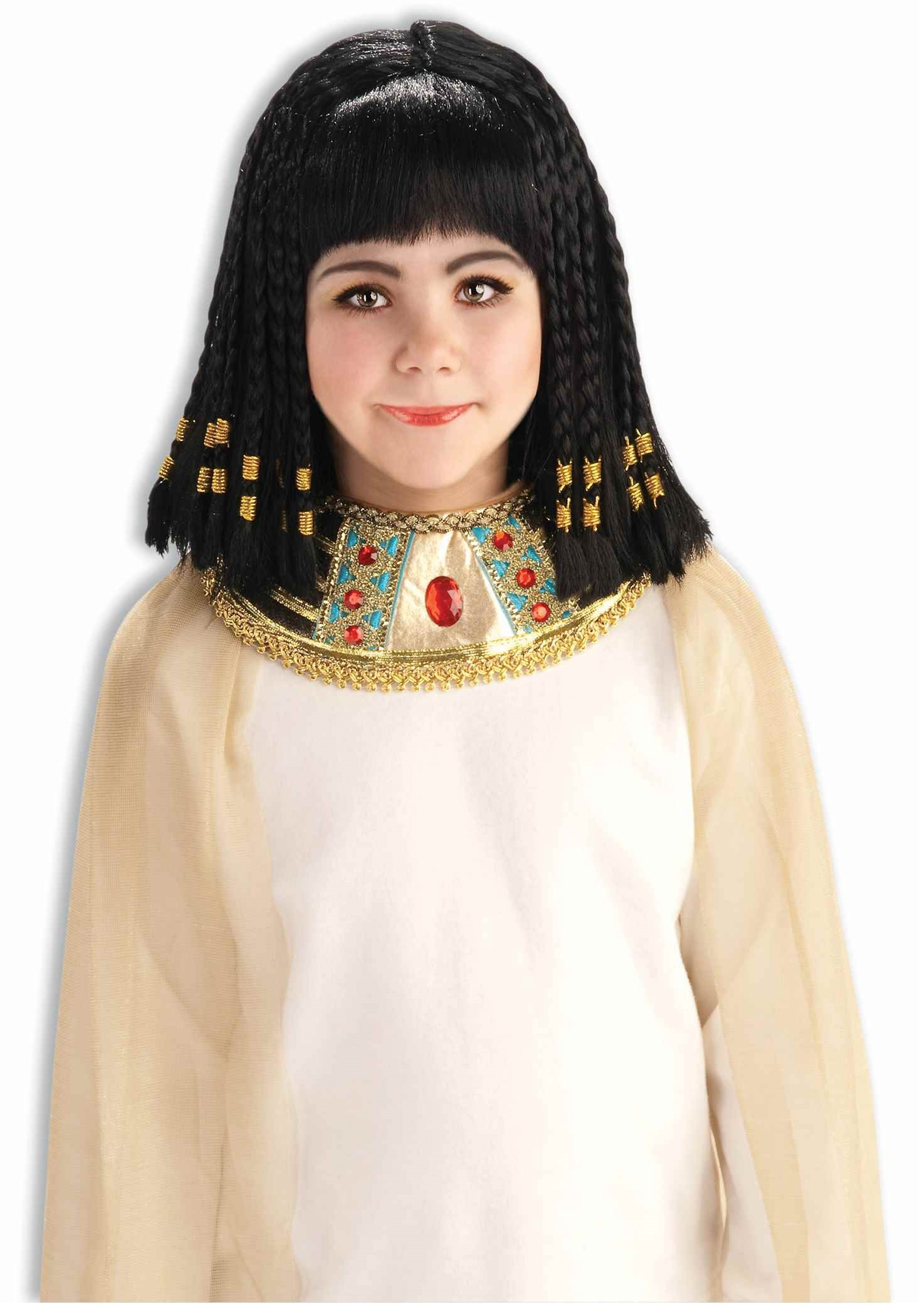 Child Queen Cleopatra Wig  sc 1 st  Halloween Costume & Child Queen Cleopatra Wig - Girls Egyptian Queen Costume Accessory
