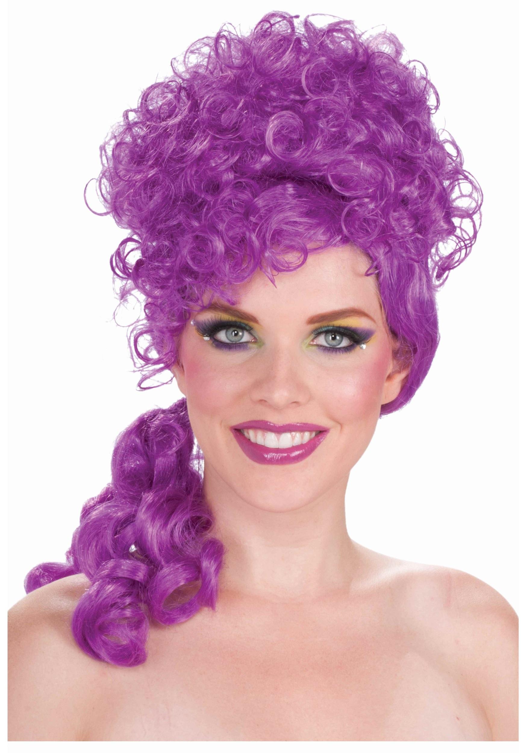 Purple Big Top Clown Wig Purple Hair Costume Wigs For Women