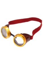Steampunk Gold-Rimmed Goggles