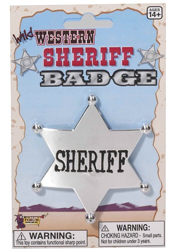 Wild West Sheriff Badge Accessory