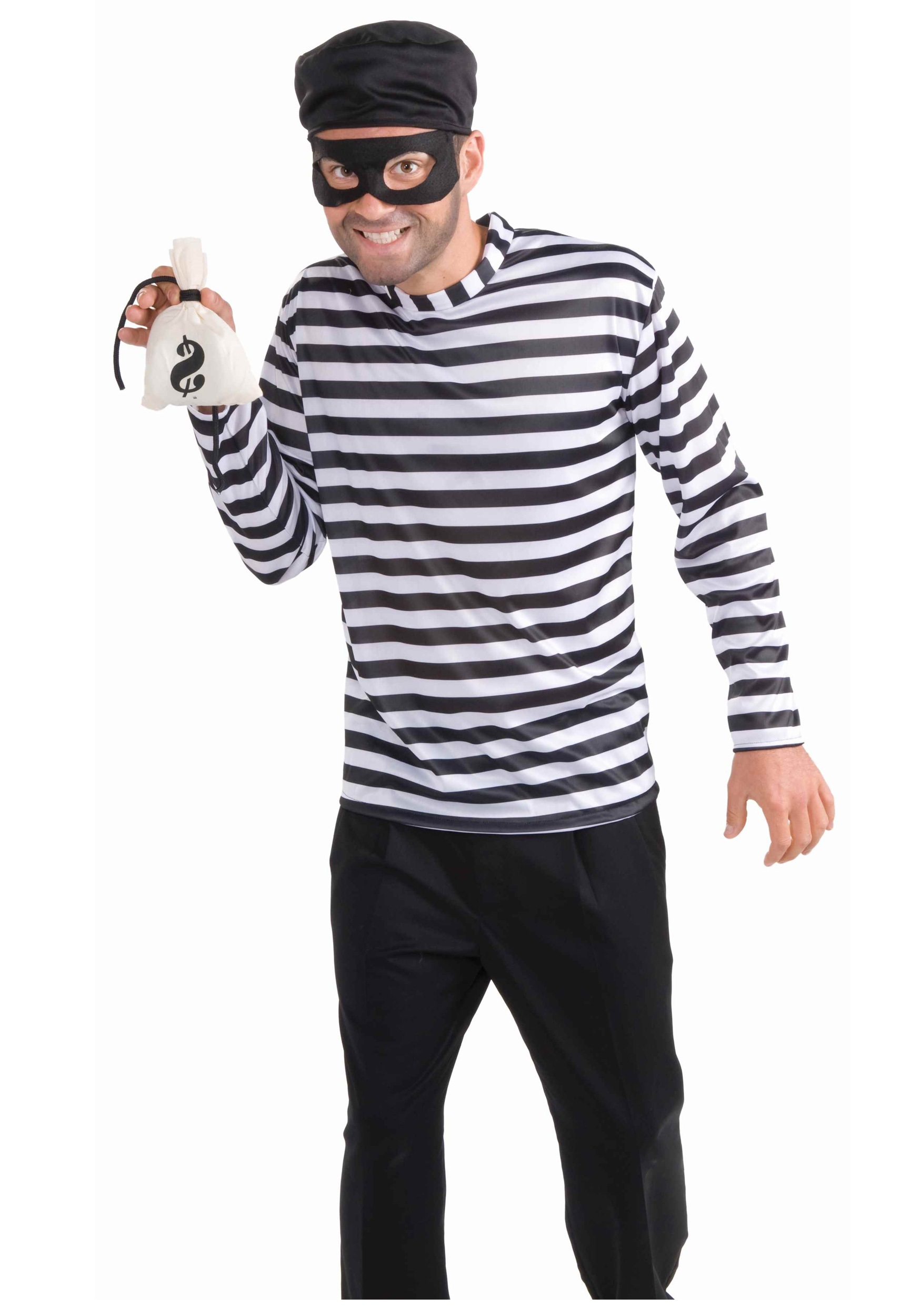 Mens Funny Burglar Costume  sc 1 st  Halloween Costume & Mens Funny Burglar Costume - Adult Thief Halloween Costume