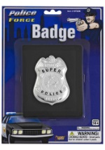 Police Force Wallet and Badge