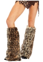 Cheetah Print Furry Leg Warmers