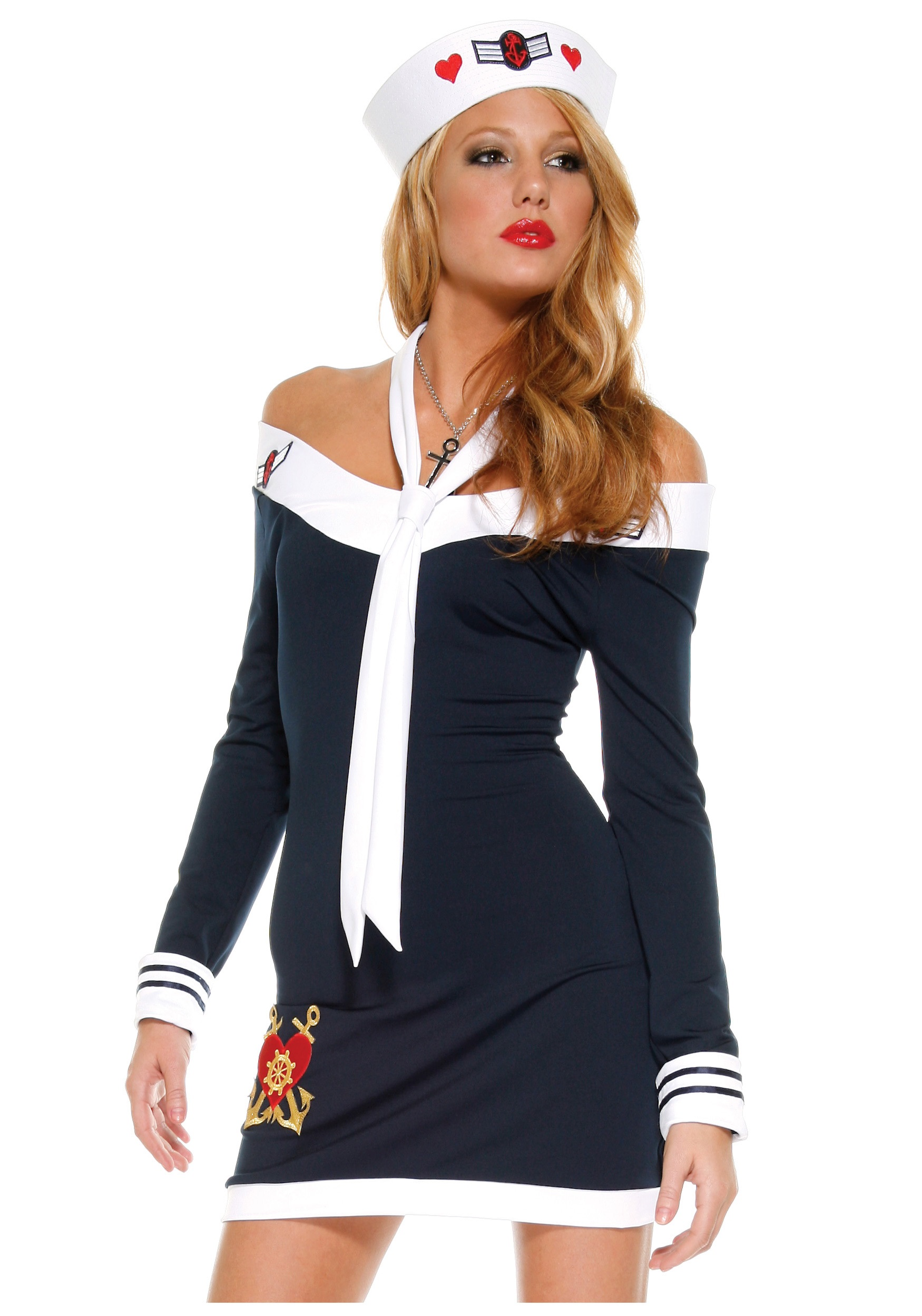 Sexy Sailor Girl Costume  sc 1 st  Halloween Costume : womans sailor costume  - Germanpascual.Com