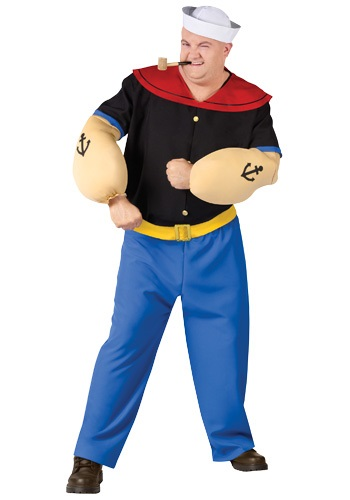 Plus Size Popeye Sailor Costume