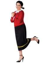 Plus Ladies Olive Oyl Costume