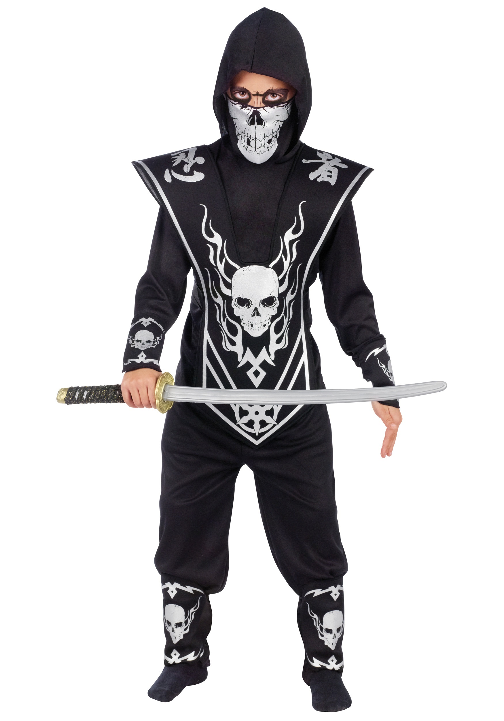 Skull Ninja Boys Costume  sc 1 st  Halloween Costume & Skull Ninja Boys Costume - Kids Scary Halloween Costumes