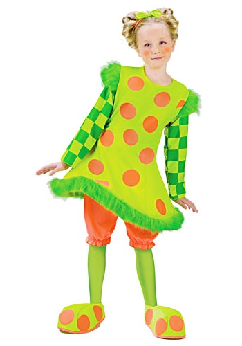 Girls Lolli the Clown Costume  sc 1 st  Halloween Costume & Girls Lolli the Clown Costume - Kids Clown Halloween Costumes