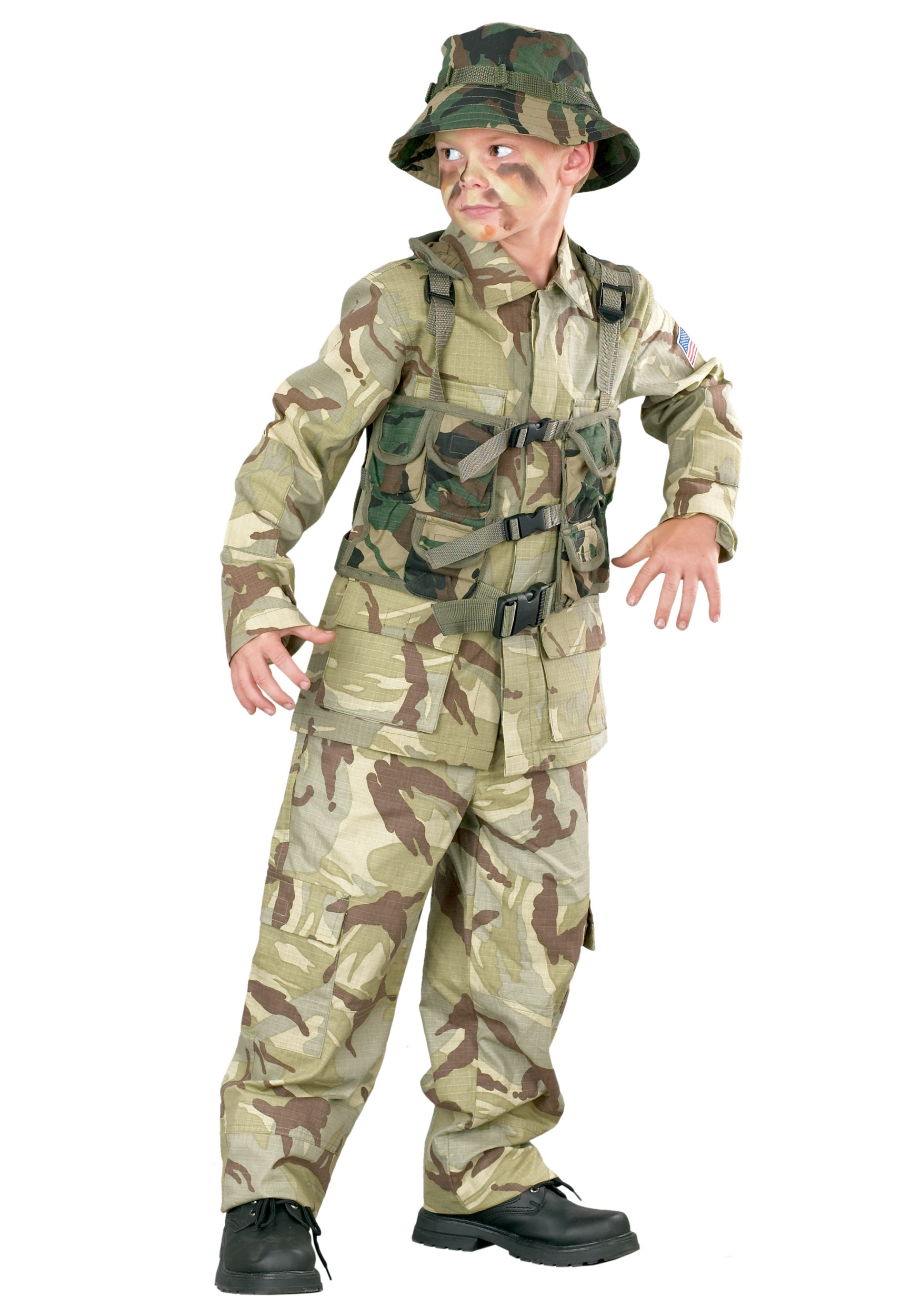 Boys Delta Force Army Costume Kids Army Uniform Costume