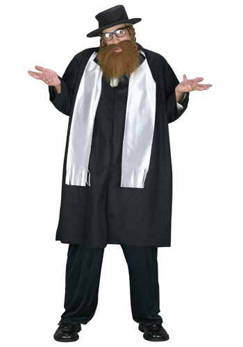 Men's Plus Size Rabbi Costume