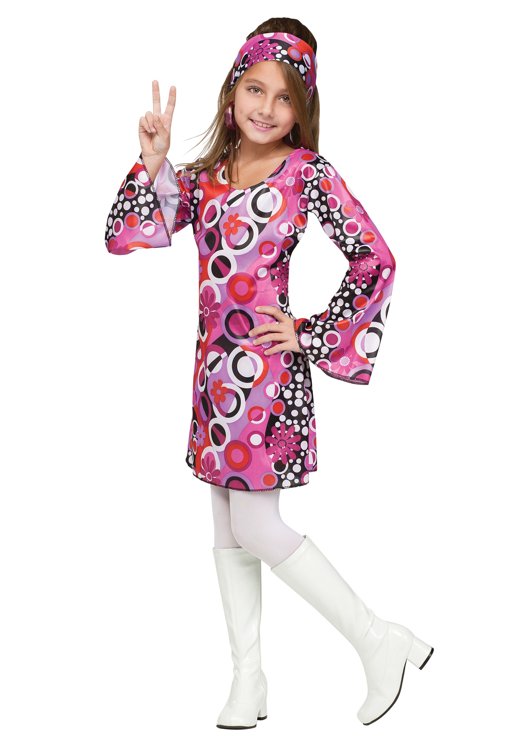 Go Go Groovy Girl Costume  sc 1 st  Halloween Costume & Go Go Groovy Girl Costume- Girls Retro Costume Ideas