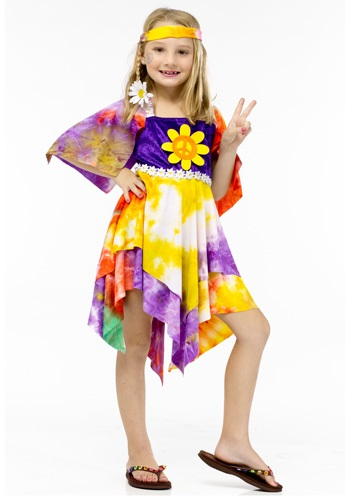 Girls Flower Power Hippie Costume