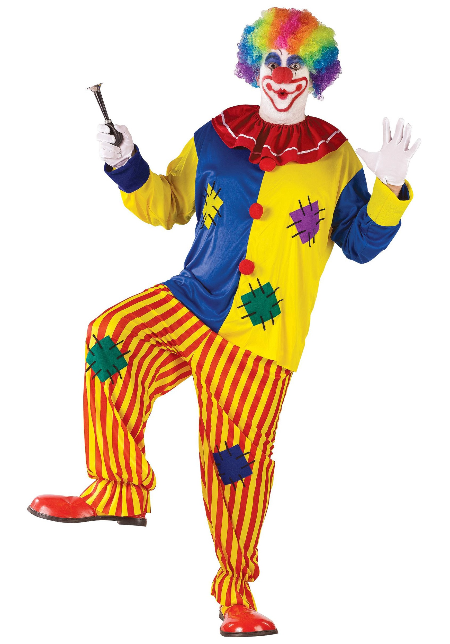circus clown costume - adult classic circus clown halloween costumes