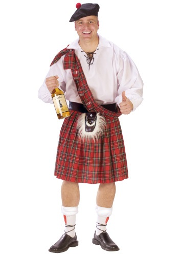 Adult Big Shot Scot Costume