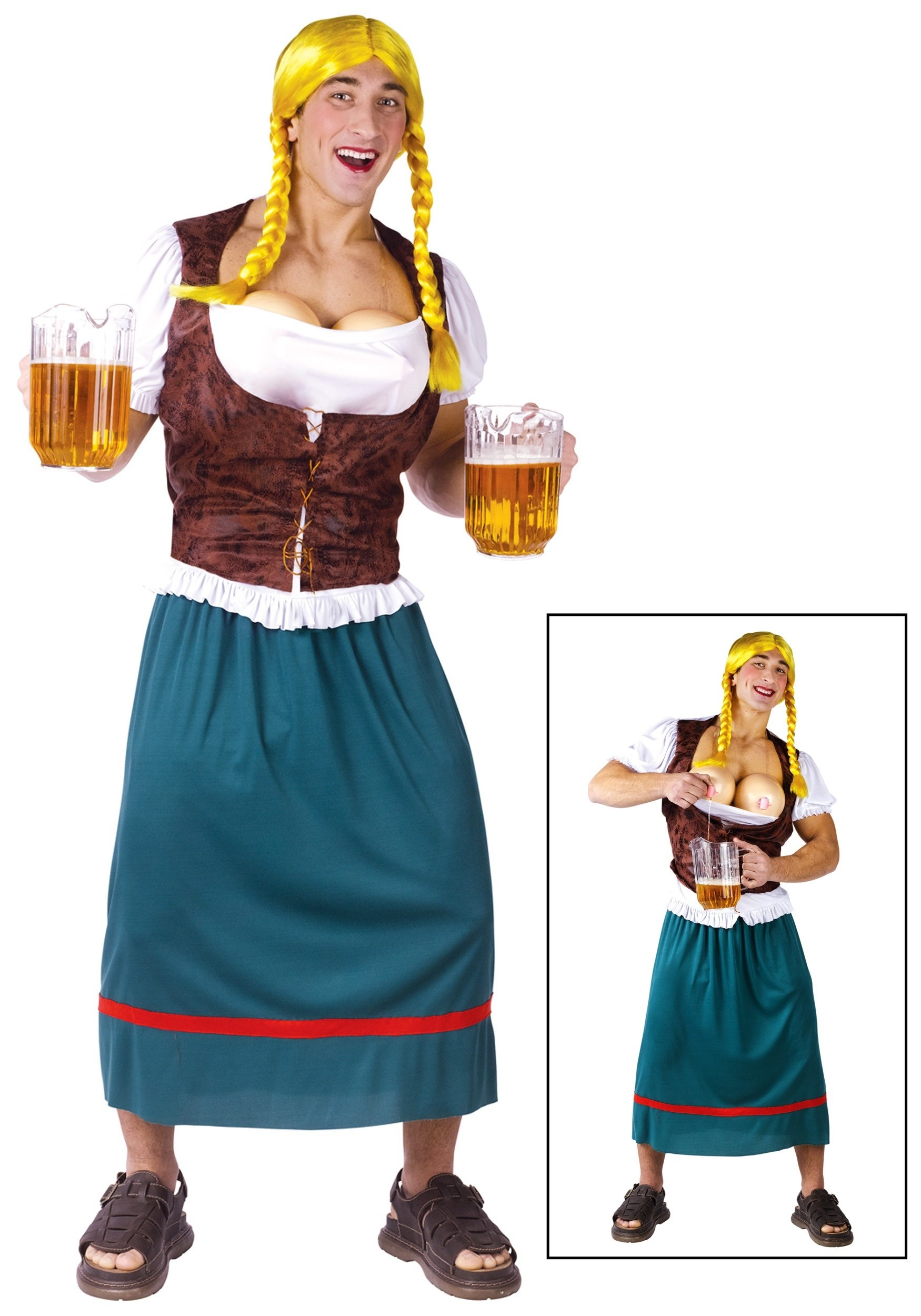 Mens German Beer Babe Costume  sc 1 st  Halloween Costume & Mens German Beer Babe Costume - Funny Halloween Costumes for Adults