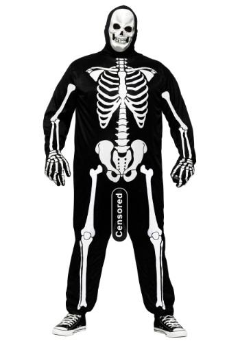 Plus Size Funny Skele-Boner Costume
