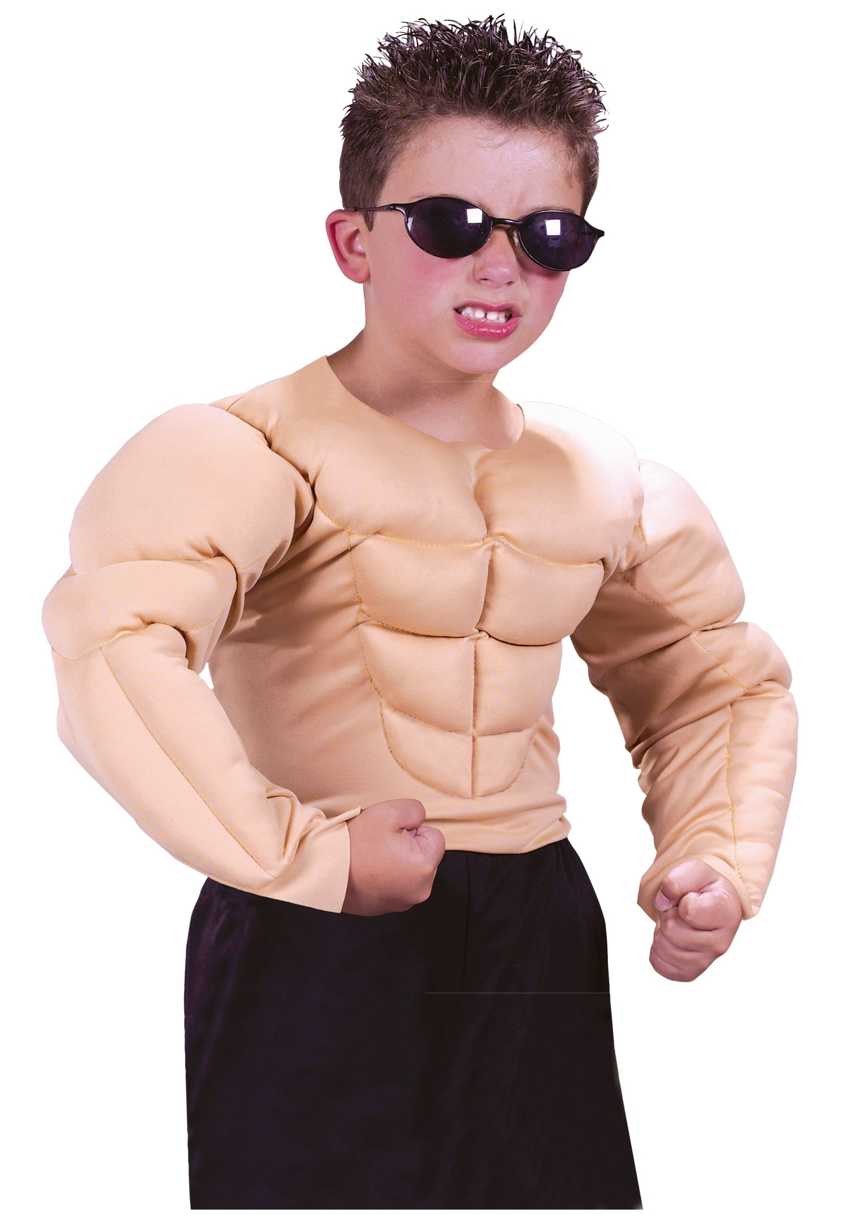 boys muscle chest shirt - funny halloween costumes for kids