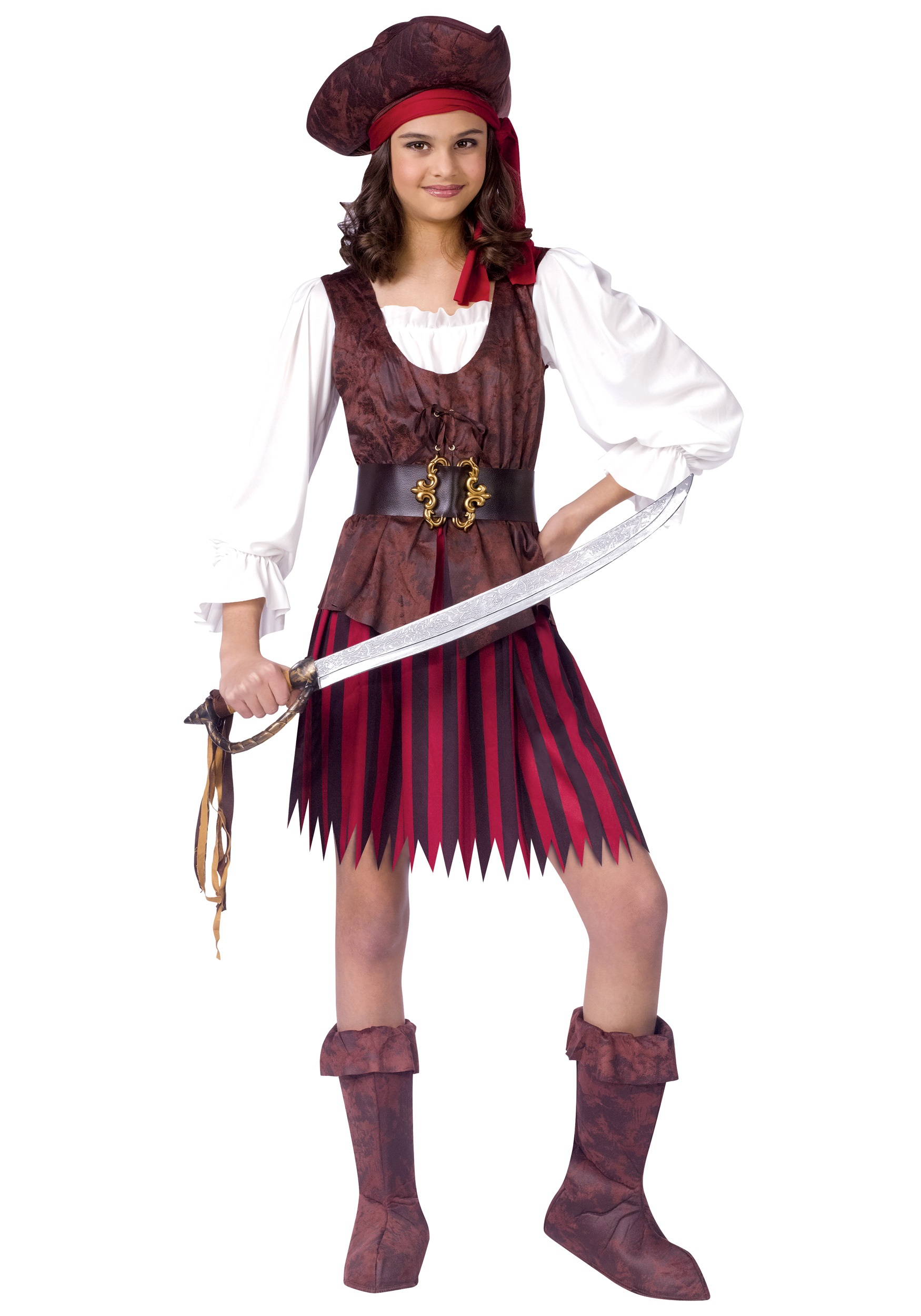 High Seas Lass Pirate Costume  sc 1 st  Halloween Costume & High Seas Lass Pirate Costume - Child Pirate Halloween Costumes