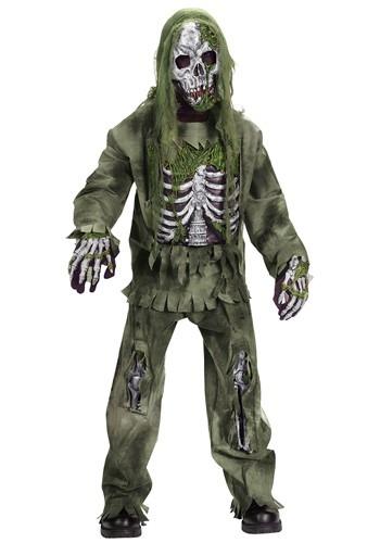 Child Skeleton Zombie Costume