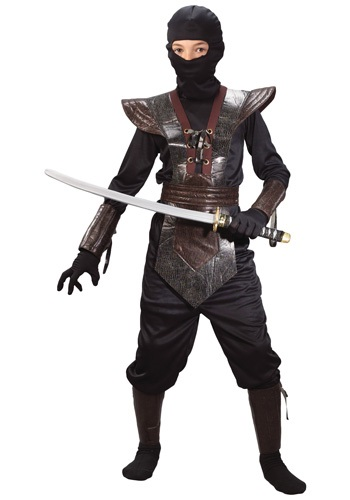 Leather Boys Ninja Costume