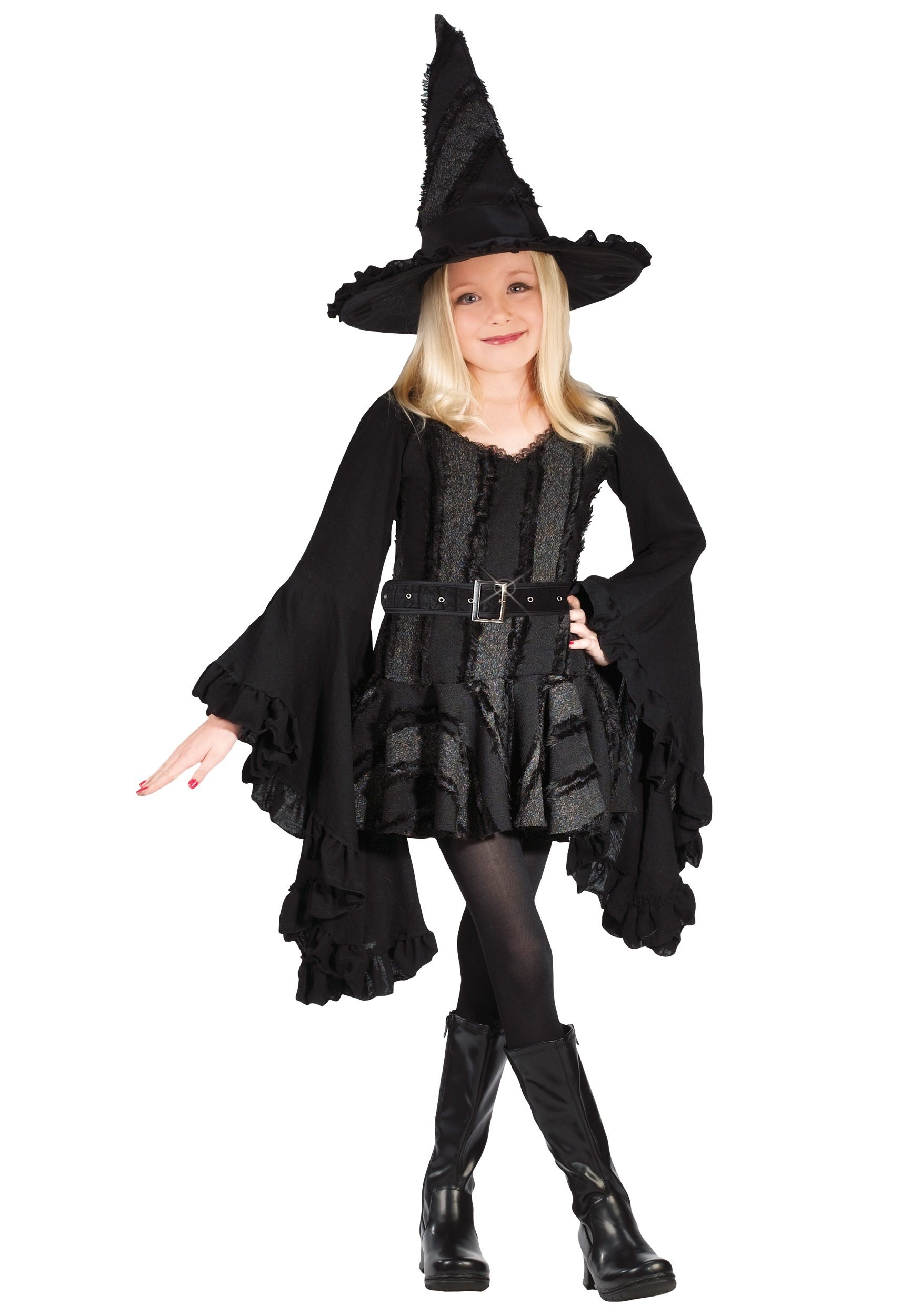 Kids Wicked Witch Costume  sc 1 st  Halloween Costume & Kids Wicked Witch of the West Costume - Girls Halloween Costumes