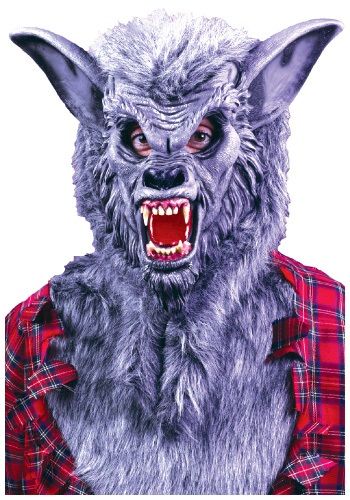 Gray Werewolf Halloween Mask