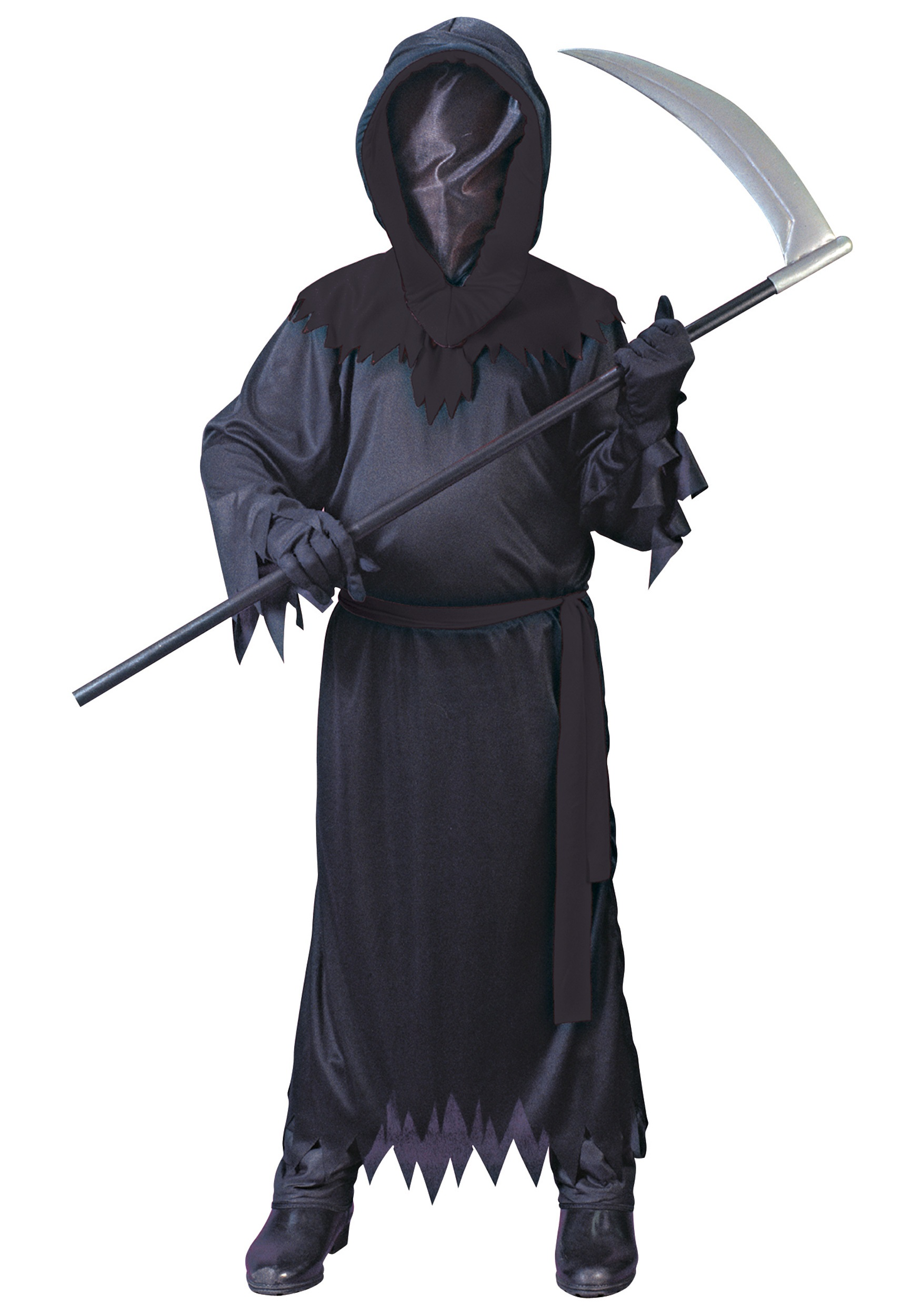 Scary Halloween Costumes For Boys | Child Black Faceless Ghost Costume Scary Grim Reaper Costume