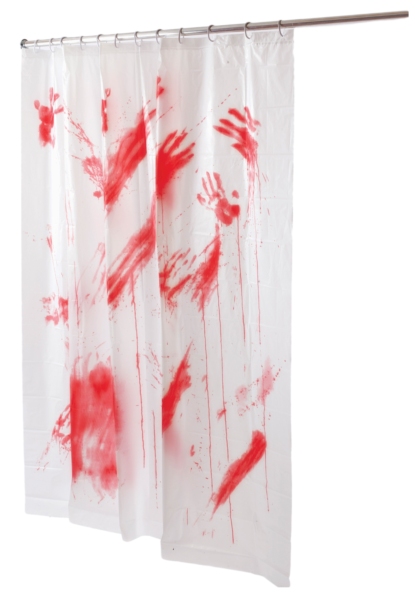 Blood Spatter Shower Curtain - Indoor Haunted Bathroom Decoration