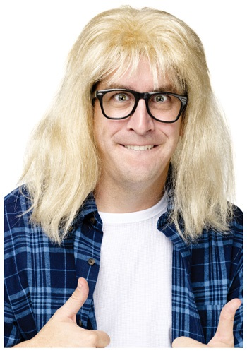 Waynes World Blonde Garth Wig