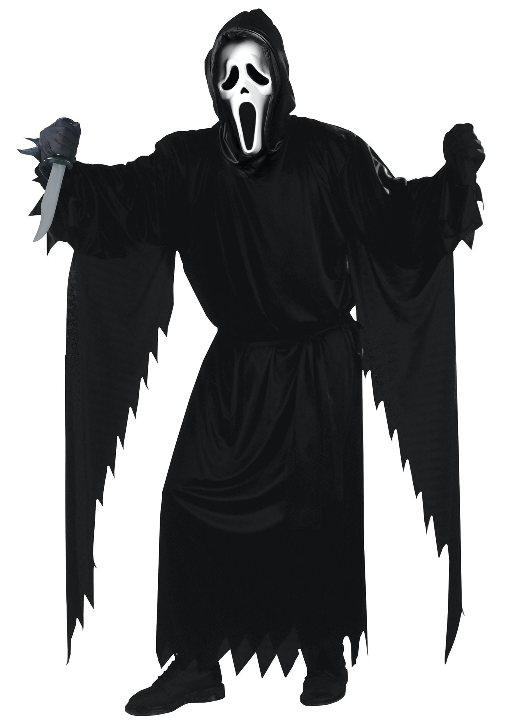 scary scream costume - adult scream movie halloween costumes