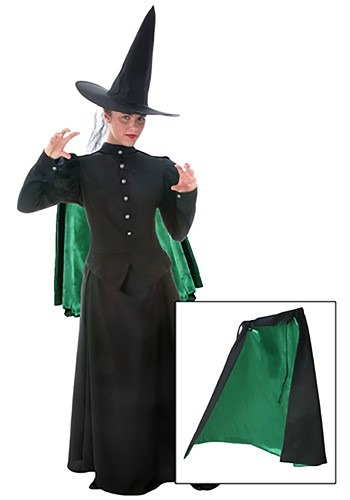 Womens Black Witch Cape