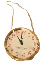 Golden Clock Purse