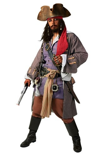 Realistic Caribbean Men's Pirate Costume