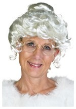 Deluxe Mrs. Claus Curly Wig