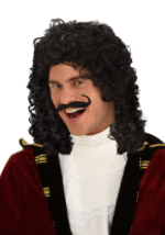 Curly Black Pirate Costume Wig