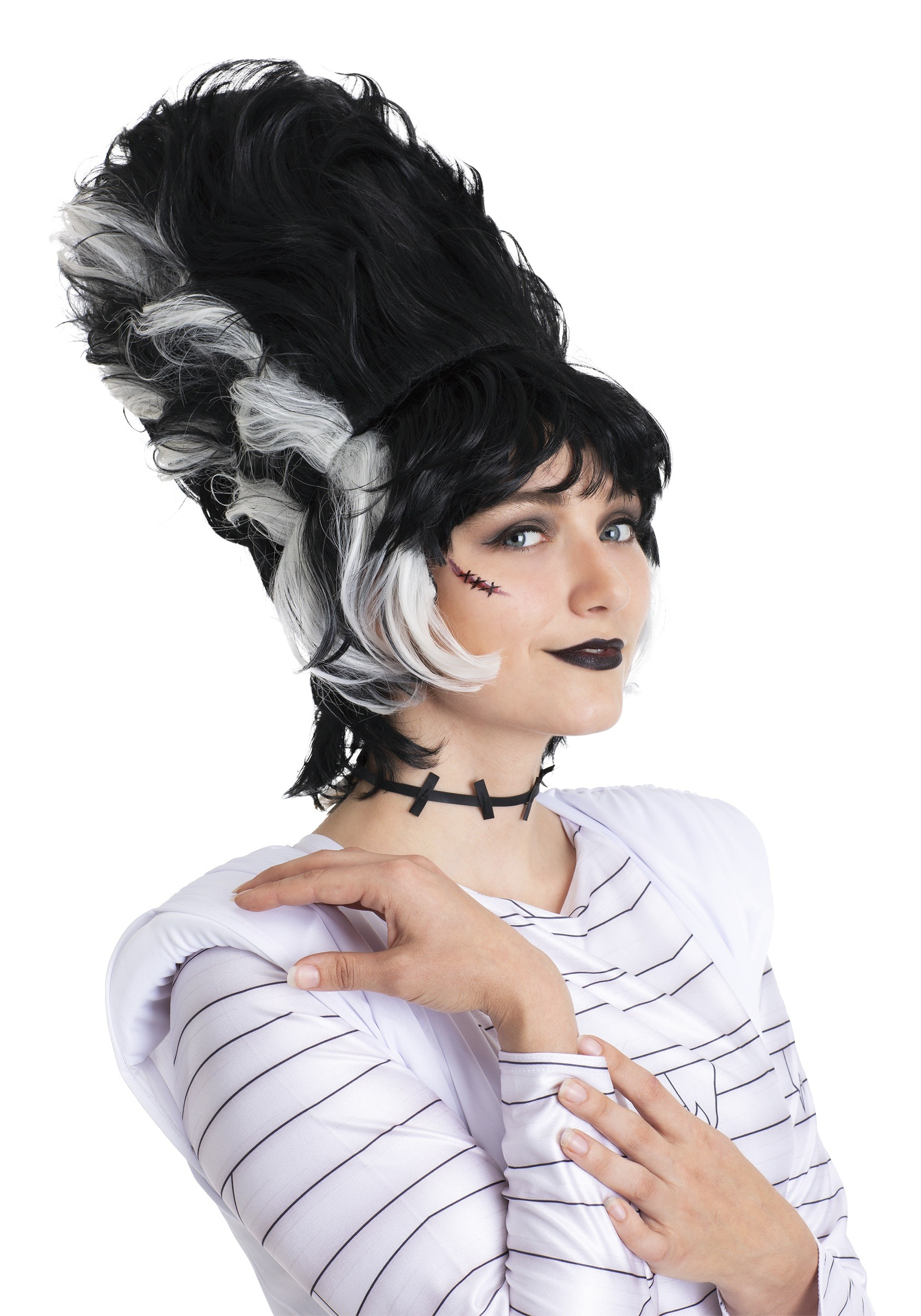 Frankenstein And The Bride of Frankenstein Costume Frankenstein Bride Wig