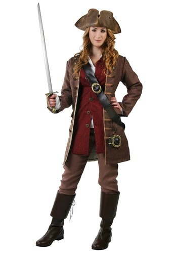 Womens Authentic Caribbean Captain Costume