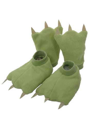 Child Green Costume Hands and Feet