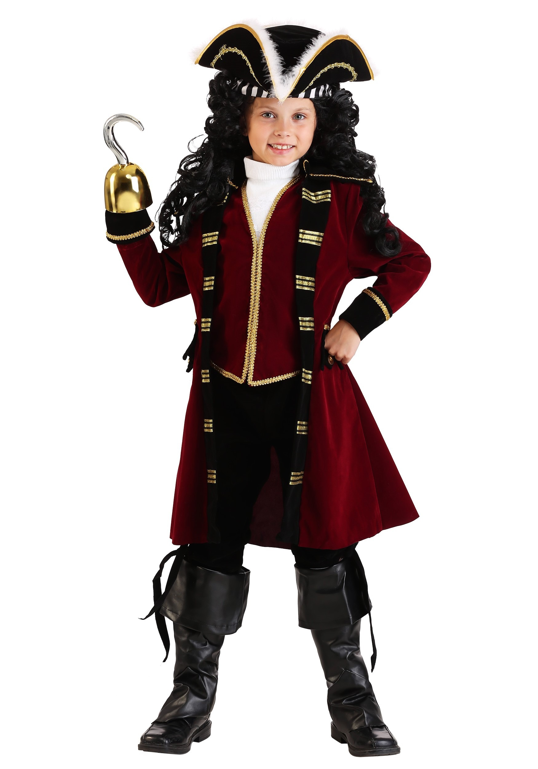 Deluxe Child Captain Hook Costume  sc 1 st  Halloween Costume & Deluxe Child Captain Hook Costume - Pirate Costumes for Kids