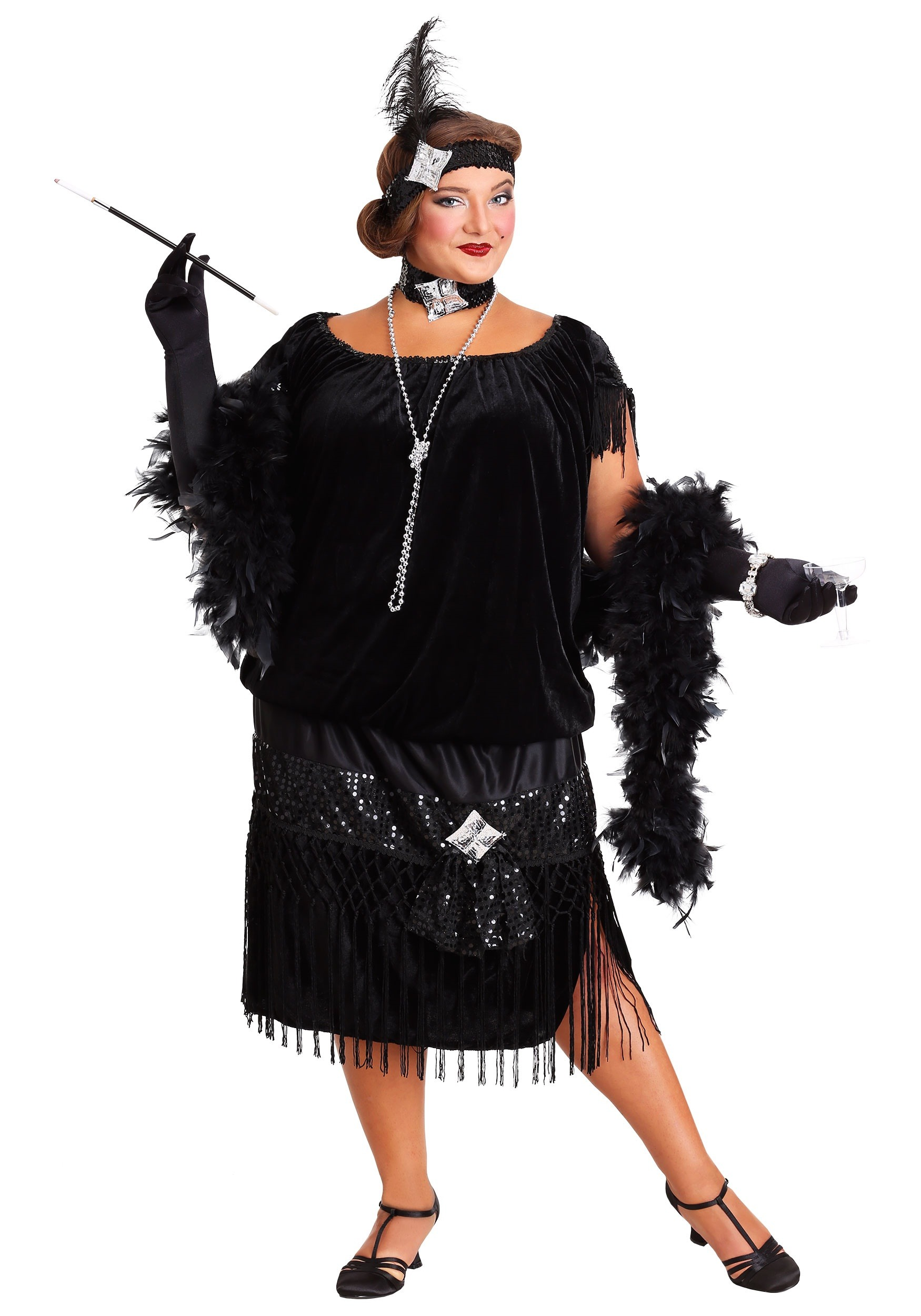 0262165a6a0 Plus Size Gangster Costume   ... Womenu0027s Plus Size 1920s Coco ...